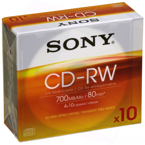 Sony CD-RW 700MB High Speed Vékony Tokos P10 ARTISJUS