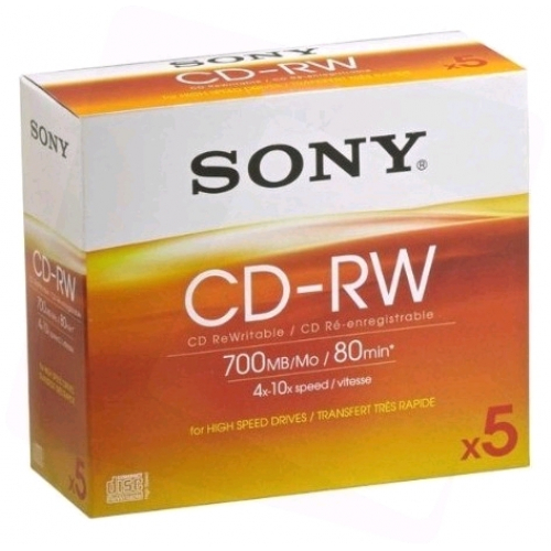 Sony CD-RW 700MB High Speed Normál Tokos P5 ARTISJUS