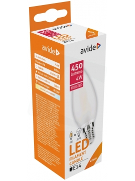 Avide LED Frosted Filament Candle 4W E14 360° NW 4000K