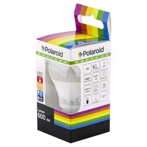 Polaroid LED Globe E27 8W WW 3000K