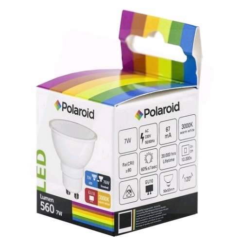 Polaroid LED Spot GU10 7W WW 3000K