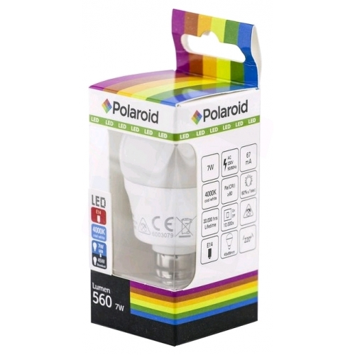 Polaroid LED Mini Globe E14 7W NW 4000K