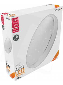 Avide LED Ceiling Lamp Oyster type IP44 Alice 18W 330*100mm NW 4000K