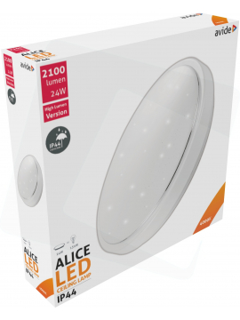 Avide LED Ceiling Lamp Oyster type IP44 Alice 24W 380*110mm NW 4000K