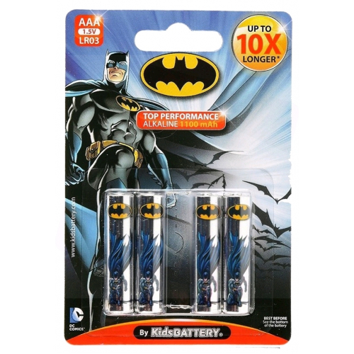 Kids Battery Batman Alkáli Mikro Elem AAA B4