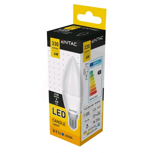 Entac LED Candle E14 4W NW 4000K