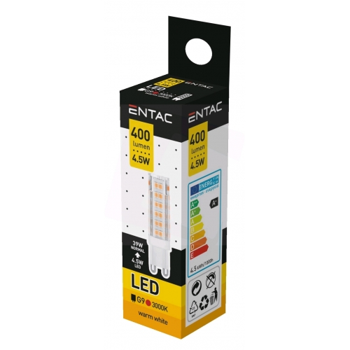 Entac LED G9 4.5W WW 3000K
