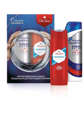 Old Spice és Head&Shoulders Csomag: Head&Shoulders sampon (400ml) + Old Spice tusfürdő 250ml Whitewater