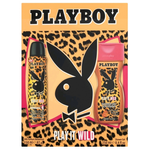 Playboy Play It Wild Tusfürdő (250 ml) + Dezodor (150ml)