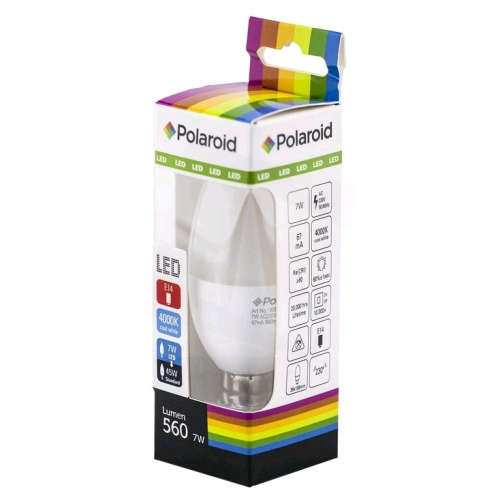 Polaroid LED Candle E14 7W NW 4000K