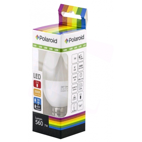 Polaroid LED Candle E14 7W WW 3000K