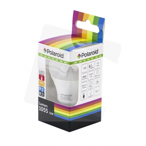 Polaroid LED Globe E27 12W WW 3000K (1050 lm)