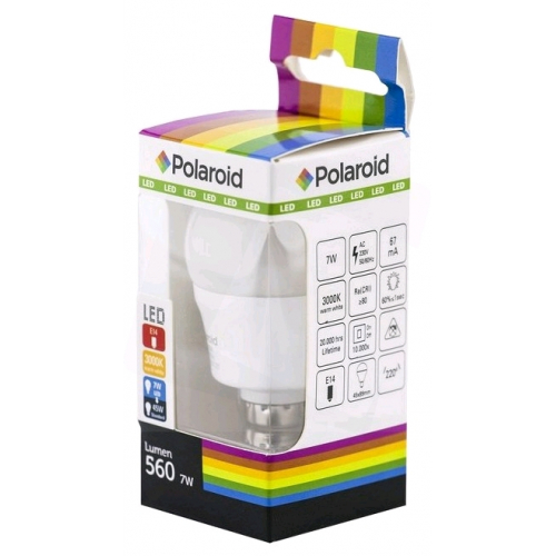 Polaroid LED Mini Globe E14 7W WW 3000K