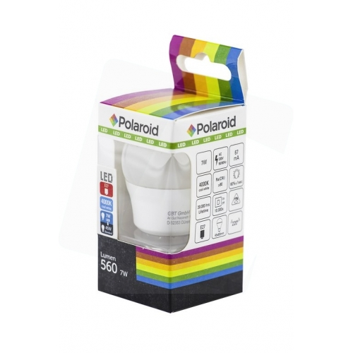 Polaroid LED Mini Globe E27 7W NW 4000K (560 lm)