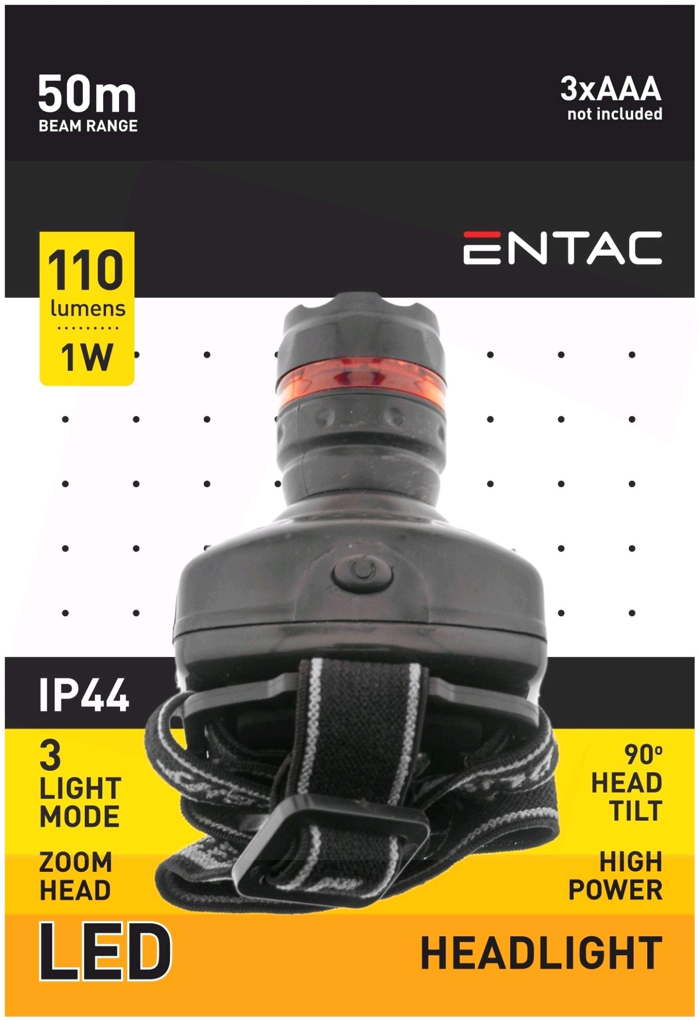 Entac Headlight Zoom 1W Plastic